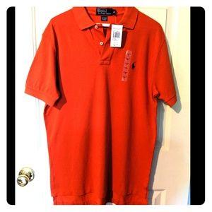Ralph Lauren Polo shirt- Varsity Orange size M